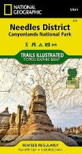 National Geographic Trails Illustrated Map||||Needles District: Canyonlands National Park