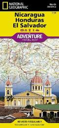 National Geographic Adventure Map||||Nicaragua, Honduras, and El Salvador