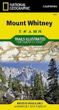 National Geographic Trails Illustrated Map    Mount Whitney