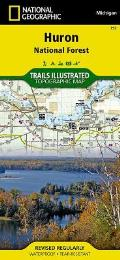 National Geographic Trails Illustrated Map||||Huron National Forest