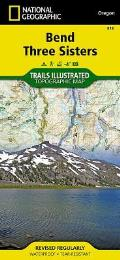 National Geographic Trails Illustrated Map||||Bend, Three Sisters