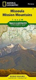 National Geographic Trails Illustrated Map||||Missoula, Mission Mountains