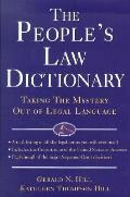 Peoples Law Dictionary Taking The Myster