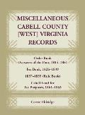 Miscellaneous Cabell County, West Virginia, Records, Order Book Overseers of the Poor 1814-1861, Fee Book 1826-1839, 1857-1859 (Rule Book), Cabell Lan