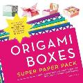 Origami Boxes Super Paper Pack Folding Instructions & Paper for Hundreds of Mini Containers