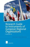 Research Guide to Instruments of European Regional Organizations - Second edition