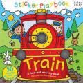 Sticker Playbook Train: A Fold-Out Story Activity Book for Toddlers