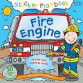 Sticker Playbook Fire Engine: A Fold-Out Story Activity Book for Toddlers