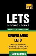 Thematische Woordenschat Nederlands-Lets - 7000 Woorden