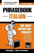 English-Italian Phrasebook and 250-Word Mini Dictionary