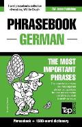 English-German Phrasebook and 1500-Word Dictionary