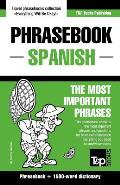 English-Spanish Phrasebook and 1500-Word Dictionary