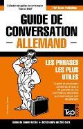 Guide de Conversation Francais-Allemand Et Mini Dictionnaire de 250 Mots