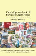 Cambridge Yearbook of European Legal Studies - Volume 15, 2012-2013