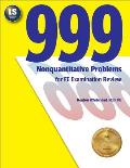 999 Nonquantitative Problems for Fe Examination Review