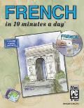 French in 10 Minutes a Day With CDROM With Sticky Labels With Flash Cards