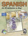 Spanish in 10 Minutes a Day with CDROM with Sticky Labels with Flash Cards