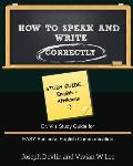How to Speak and Write Correctly: Study Guide (English + Afrikaans)