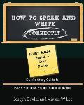 How to Speak and Write Correctly: Study Guide (English + Irish)
