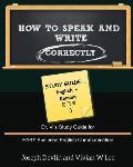 How to Speak and Write Correctly: Study Guide (English + Korean)