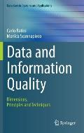 Data and Information Quality: Dimensions, Principles and Techniques