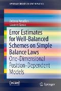 Error Estimates for Well Balanced Schemes on Simple Balance Laws One Dimensional Position Dependent Models