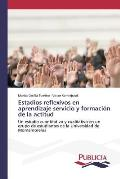 Estadios Reflexivos En Aprendizaje Servicio y Formacion de La Actitud