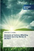 Analysis of Factors Affecting Problem Solving Ability of Student