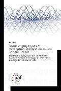 Mod?les Physiques Et Perception, Analyse Du Milieu Sonore Urbain