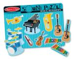 Musical Instruments Sound Puzzle: Puzzles (Wooden) - Sound Puzzles [With Battery]