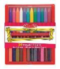 Triangular Crayon Set (24 Pc)