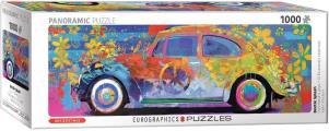 VW Beetle Splash Panoramic 1000-Piece Puzzle