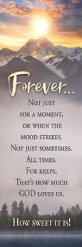 Christian Bookmark - Forever