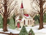 Woodland Church Boxed Christmas Cards