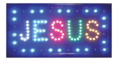 Led Light Up Sign Jesus