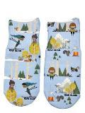 Read Island: Little Skier Toddler Sock: Fits Shoe Size 6-11