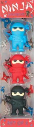 Ninja Puzzle Erasers - Set of