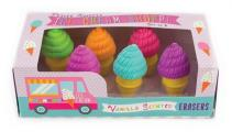 Petite Sweets Ice Cream Scented Erasers - Set of 6