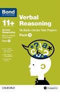 Bond 11+: Verbal Reasoning: Multiple Choice Test Paperspack 1