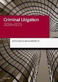 Criminal Litigation 2018-2019