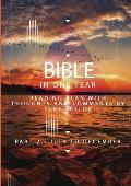 The Bible in a year - Part 2 July - December Reading plan with thoughts and comments by Luke Taylor