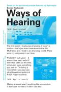 Ways of Hearing - Signed Edition