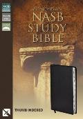 Bible Nasb Study Black Indexed With Gilt