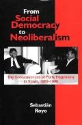 From social democracy to neoliberalism; the consequences of party hegemony in Spain, 1982-1996