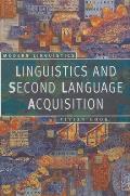 Linguistics and Second Language Acquisition