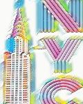 Rainbow Chrysler Building Writing Drawing Journal