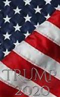 Trump 2020 -American Flag writing Journal