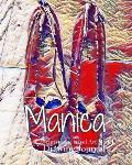 Manica Red Pumps Clinton in Blue Dress Christophe Nayel Art Model sketchbook