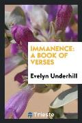 Immanence: A Book of Verses