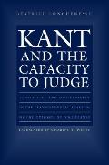 Kant & The Capacity To Judge
